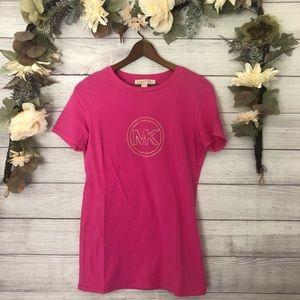 Michael Kors Pink Gold Embellished Top sz S ✨